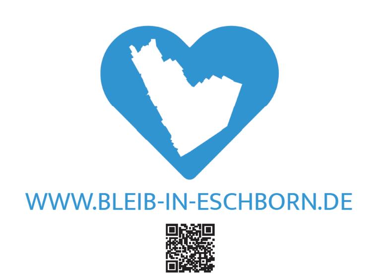 """Logo für """"Bleib-in-Eschborn""""-Kampagne."""