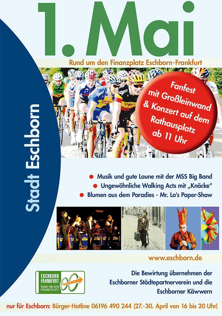 Eschborn-Frankfurt - Großes Fanfest mit Konzert auf dem Rathausplatz